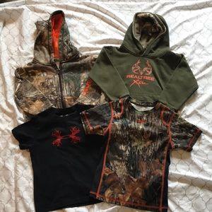 Camo/hunting toddler clothing bundle